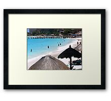 Cancun Beach Framed Print