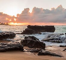 Sandy Beach Sunrise 6 by Leigh Anne Meeks