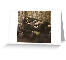 Lazy Afternoon at 221b Greeting Card