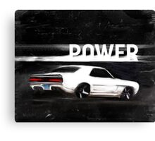 Power poster Canvas Print