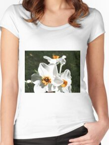 Narcissus poeticus HFPHOT27   Women's Fitted Scoop T-Shirt
