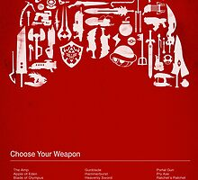 Choose Your Weapon Video Game Weapon Collage by dylanwest2010