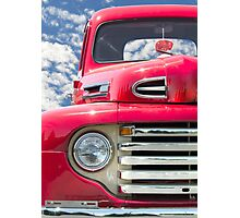 Classic Red Truck Photographic Print