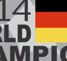 Germany 2014 World Cup Soccer Champions Sticker