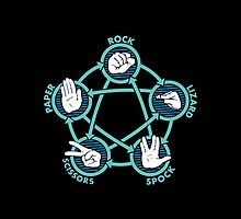 Rock Paper Scissors Lizard Spock by MadDesigns95