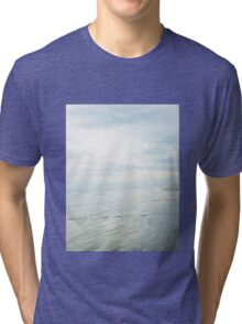 Shimmery Blue - Sand, Sea, Sky Tri-blend T-Shirt
