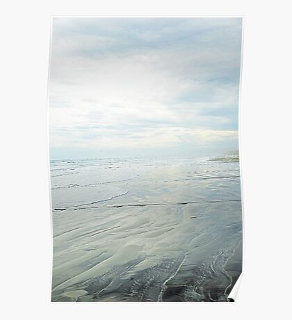 Shimmery Blue - Sand, Sea, Sky Poster