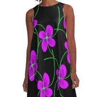 Violets  A-Line Dress