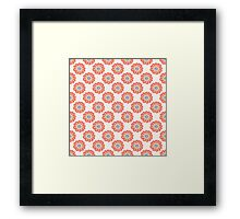 Orange floral seamless pattern. Doodle simple kids background. Hand drawn wallpaper Framed Print