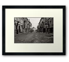 The Broken Street Framed Print