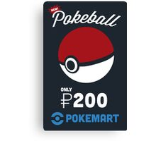 Pokemon Pokeball Pokemart Ad Canvas Print