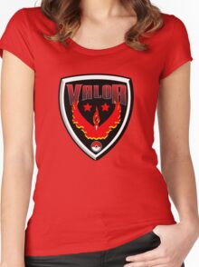 Pokemon Go! Team Valor Shield Women's Fitted Scoop T-Shirt