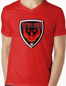Pokemon Go! Team Valor Shield Mens V-Neck T-Shirt