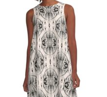 Patterns modern backgrounds Art Deco A-Line Dress