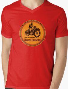 Royal Enfield vintage British Motorcycles Mens V-Neck T-Shirt
