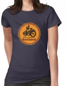 Royal Enfield vintage British Motorcycles Womens Fitted T-Shirt