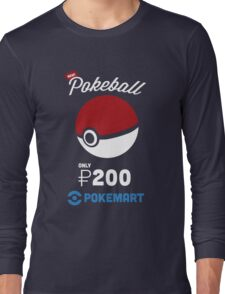 Pokemon Pokeball Pokemart Ad Long Sleeve T-Shirt
