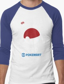 Pokemon Pokeball Pokemart Ad Men's Baseball ¾ T-Shirt
