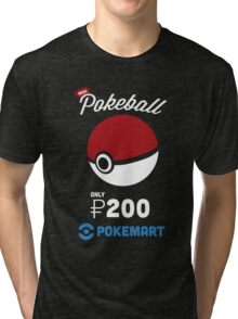 Pokemon Pokeball Pokemart Ad Tri-blend T-Shirt