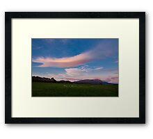 Rural Dawn Tasmania Framed Print