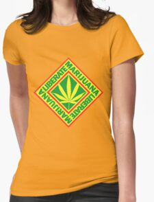 Liberate Marijuana Womens Fitted T-Shirt