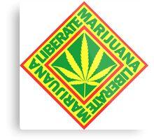 Liberate Marijuana Metal Print