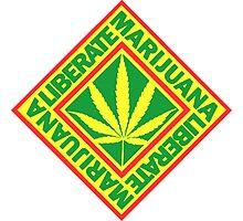 Liberate Marijuana Photographic Print
