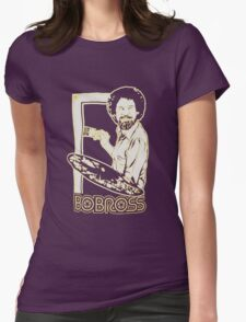 Bob ross happy tree t shirt Womens Fitted T-Shirt