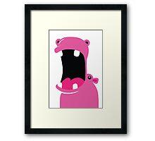 Pink Hippo Framed Print