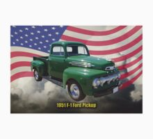 Green 1951 Ford F-1 Pickup With American Flag Kids Clothes