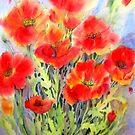Crimson Dancers by bevmorgan