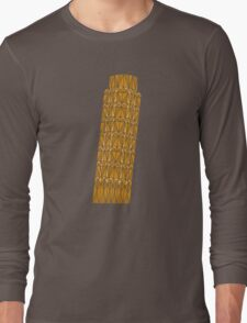 Geometric tower of Pisa in colour Long Sleeve T-Shirt