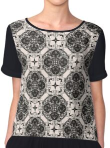 Patterns modern backgrounds Art Deco Chiffon Top