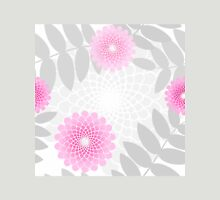 Garden flowers and Leaves pattern, spiral floral pastel pink Womens Fitted T-Shirt