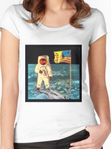 Moon Walk - Andy Warhol Women's Fitted Scoop T-Shirt