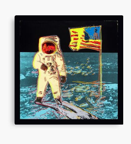 Moon Walk - Andy Warhol Canvas Print