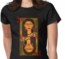 Frida Kahlo, queen of hearts  Womens Fitted T-Shirt