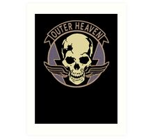 Metal Gear Solid V - Outer Heaven (Black) Art Print