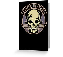 Metal Gear Solid V - Outer Heaven (Black) Greeting Card