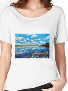 Cloud reflection on a lake Women's Relaxed Fit T-Shirt