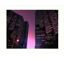 644049 Starlit high-rises Art Print