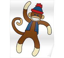 Super Cute Sock Monkey  Poster
