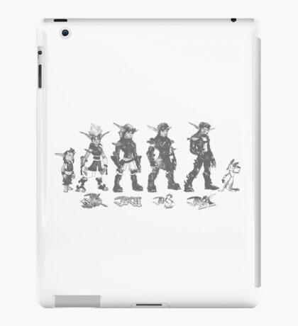 Jak and Daxter Saga - Black Sketch iPad Case/Skin