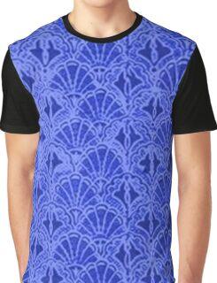 Vintage Seashells Sapphire Blue Graphic T-Shirt