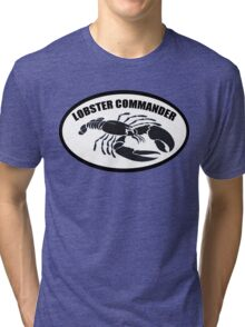 Lobster Commander Tri-blend T-Shirt