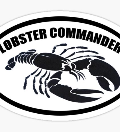 Lobster Commander Sticker