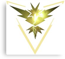 Team Instinct- Pokemon Go Lightning Canvas Print