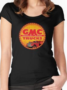 GMC vintage trucks USA Gasoline ~ Diesel Women's Fitted Scoop T-Shirt