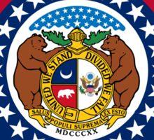 Missouri State Flag & Outline Sticker