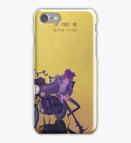 Only Want 2 See U Laughing in the Purple Rain iPhone Case/Skin